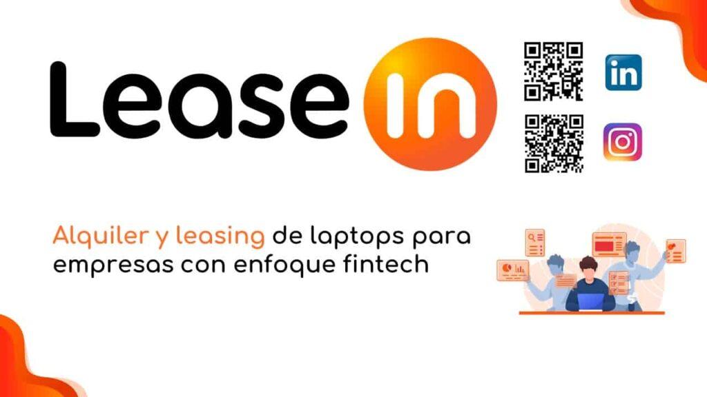 leasein alquiler de laptops para empresa con enfoque fintech