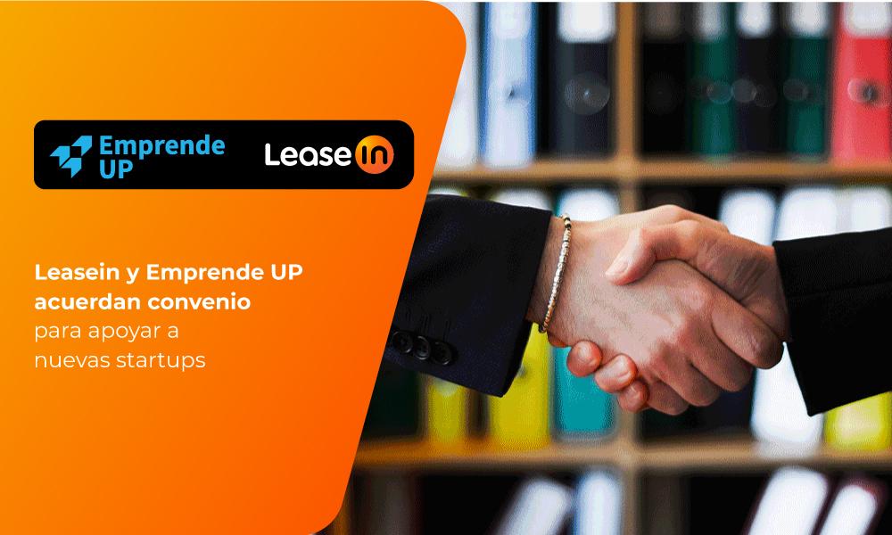 leasein emprende up acuerdan convenio startups fintech aceleración